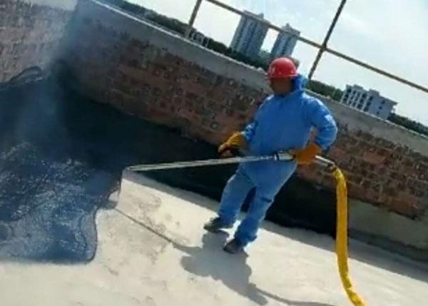 桂宝非固化防水机器施工